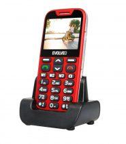 Evolveo EasyPhone XD EP-600 senior mobiltelefon piros