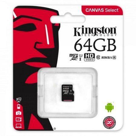 Kingston 64GB MicroSDXC CL10 memóriakártya