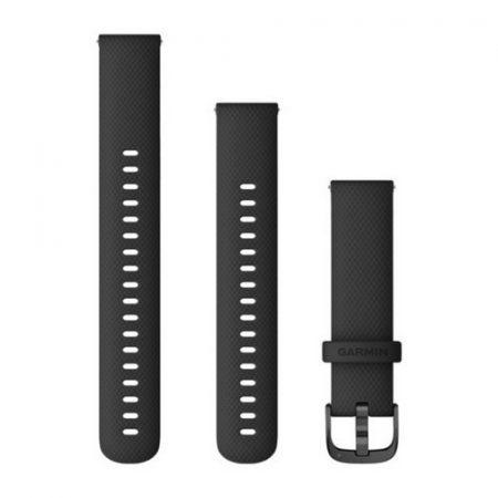 Garmin Vívoactive 4S óraszíj fekete palaszürke csattal 18mm