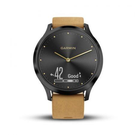 Garmin Vívomove HR Premium Fekete/Mustárs.bőr
