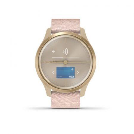 Garmin Vívomove Style Light Gold/L. Pink Nylon