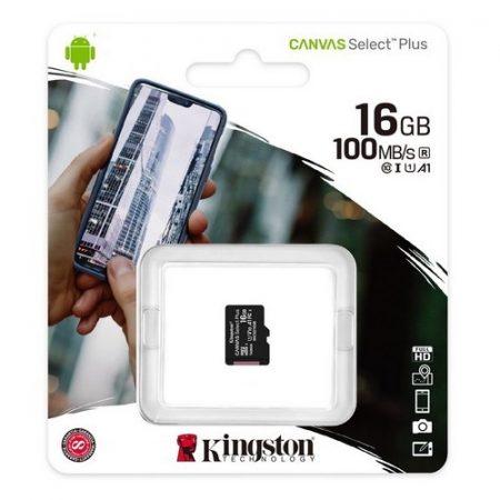 Kingston Canvas Select Plus 16GB MicroSDHC CL10 memóriakártya