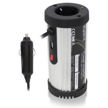 Ewent Power Inverter 12V to 220V 150W + USB 2,1A