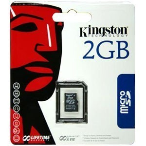 Kingston 2GB MicroSD memkártya Single Pack