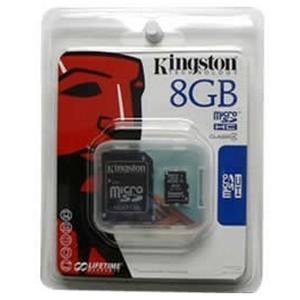 Kingston 8GB MicroSDHC memkártya + SD adapter