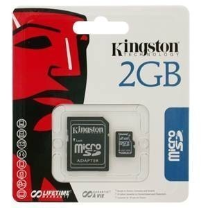 Kingston 2GB MicroSD memkártya + SD adapter