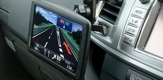 GPS navigáció tartó