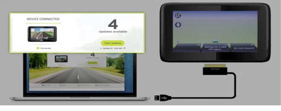 Térképfrissítés - GPS navigáció - GPS eszköz csatlakoztatása
