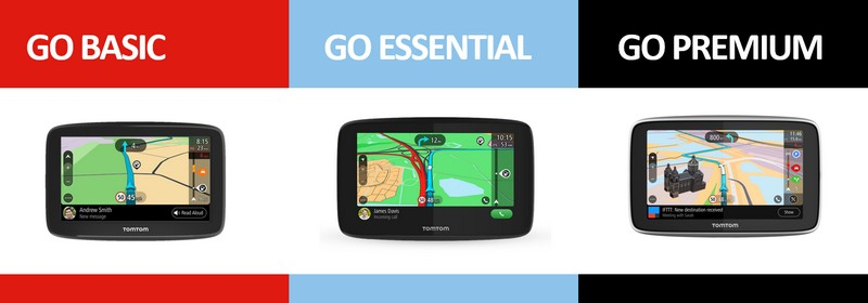 TomTom GO Basic - Essential - Premium