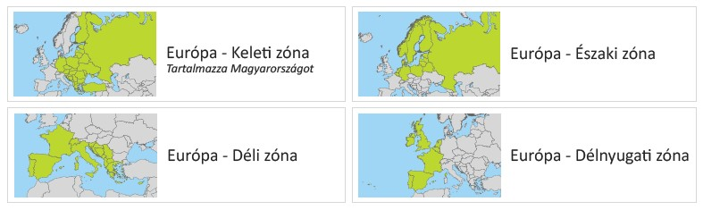 TomTom Strat 40/50 térképzónák