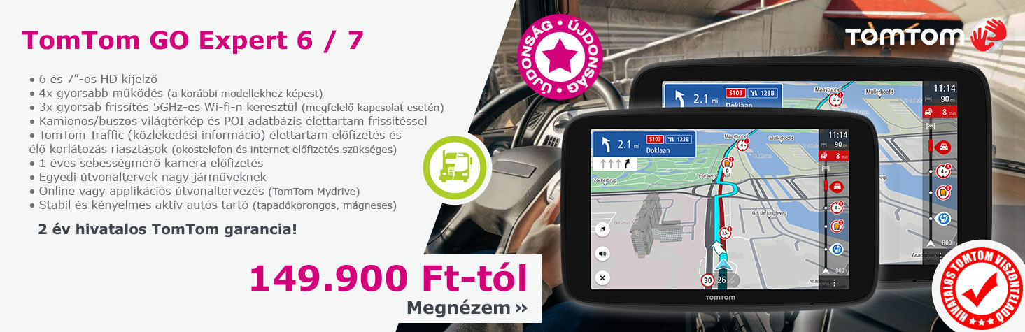 Tomtom GO Professional 6250 kamionos. buszos navigáció